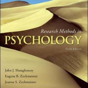 Solution Manual For Research Methods in Psychology 10th Edition By Shaughnessy
