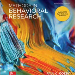 Solution Manual For Methods in Behavioral Research 14th Edition By Cozby