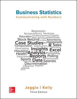 Solution Manual for Business Statistics: Communicating with Numbers 3rd Edition By Jaggia