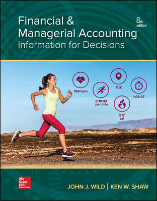 Solution Manual for Financial and Managerial Accounting 8th Edition By John Wild