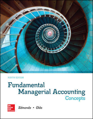 Solution Manual for Fundamental Managerial Accounting Concepts 9th Edition By Edmonds