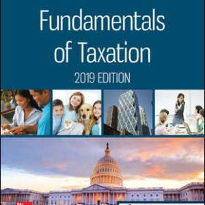 Solution Manual for Fundamentals of Taxation 2019 Edition 12th Edition, By Cruz