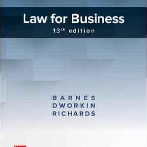 Solution Manual for Law for Business 13th Edition By Barnes