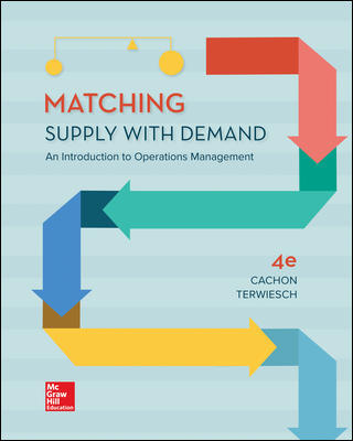 Solution Manual for Matching Supply with Demand: An Introduction to Operations Management 4th Edition By Cachon