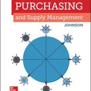 Solution Manual for Purchasing and Supply Management 16th Edition By Johnson