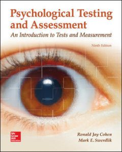 Test Bank For Psychological Testing and Assessment 9th Edition By Cohen