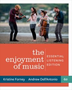 Test Bank for Enjoyment of Music: Essential Listening 4th Edition by Kristine Forney