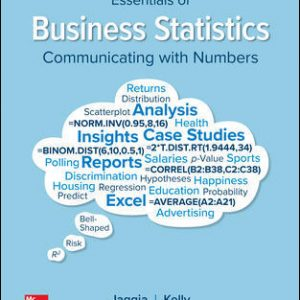 Test Bank for Essentials of Business Statistics 2nd Edition By Jaggia