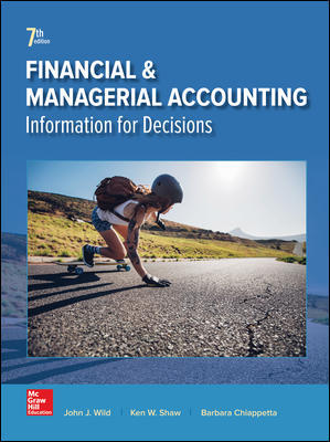 Test Bank for Financial and Managerial Accounting 7th Edition By Wild