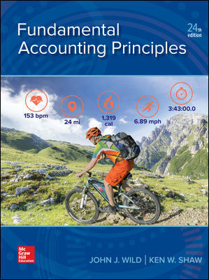 Test Bank for Fundamental Accounting Principles 24th Edition By Wild
