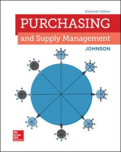 Test Bank for Purchasing and Supply Management 16th Edition By Johnson